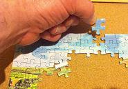 Doing a puzzle such as a jigsaw can help fight off dementia