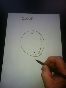 To test the memory ask the person to draw a clock face