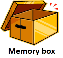 Make a memory box to help remember past events